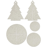 Fab Scraps - Christmas Joy Collection - Die-Cut Chipboard Embellishment - Christmas Tree with Stand