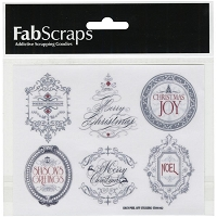 Fab Scraps - Christmas Joy Collection - Labels Clear Stickers (Pictures) (COPY)