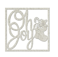 Fab Scraps - Christmas Memories Collection - Chipboard Die Cuts - Oh Joy