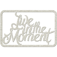 Fab Scraps - Floral Delight Collection - Chipboard Die Cuts -  Live In The Moment