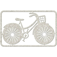 Fab Scraps - Love 2 Travel Collection - Chipboard Die Cuts - Bicycle