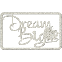 Fab Scraps - Royal Baby Collection - Die-Cut Chipboard Embellishment - Dream Big