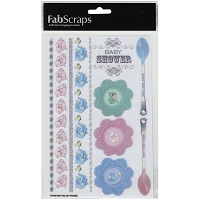Fab Scraps - Royal Baby Collection - Large Sticker sheet