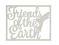 Fab Scraps - Serenity Collection - Chipboard Die Cuts - Friends of the Earth
