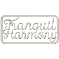 Fab Scraps - Tranquility Collection - Chipboard Die Cuts - Tranquil Harmony