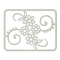 Fab Scraps - Tranquility Collection - Chipboard Die Cuts - Flower Filigree