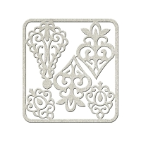 Fab Scraps - Tranquility Collection - Chipboard Die Cuts - Ornament Filigree