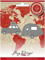 Find It Trading - Amy Design Die - Car with Caravan