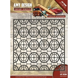 Find It Trading - Amy Design Die - Vintage Vehicles Circular Background
