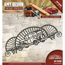 Find It Trading - Amy Design Die - Vintage Vehicles Antique Car Border