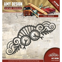 Find It Trading - Amy Design Die - Vintage Vehicles Tool Border