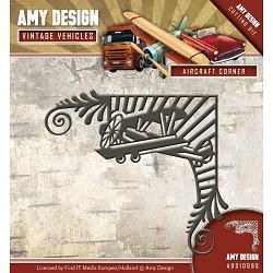 Find It Trading - Amy Design Die - Vintage Vehicles Aircraft Corner