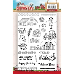 Find It Trading - Yvonne Creations Clear Stamp - Country Life