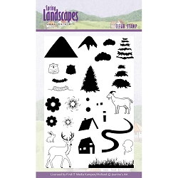 Find It Trading - Jeanine's Art Clear Stamp - Spring Landscapes Mountains