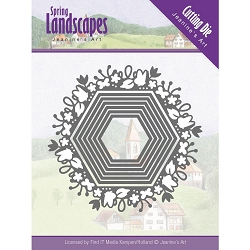 Find It Trading - Jeanine's Art Die - Spring Landscapes Spring Hexagon