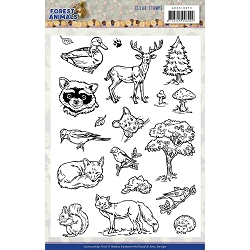 Find It Trading - Amy Design Clear Stamps - Forest Animals