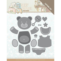 Find It Trading - Yvonne Creations Die - Newborn Build Up Bear