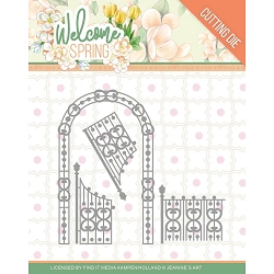 Find It Trading - Jeanine's Art Die - Welcome Spring Arch & Fence