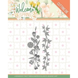 Find It Trading - Jeanine's Art Die - Welcome Spring Flowers & Leaf Borders