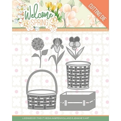 Find It Trading - Jeanine's Art Die - Welcome Spring Basket