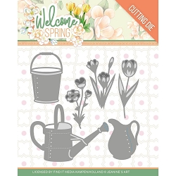 Find It Trading - Jeanine's Art Die - Welcome Spring Watering Can & Bucket