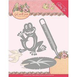 Find It Trading - Yvonne Creations Die - Get Well Soon Get Well Frog