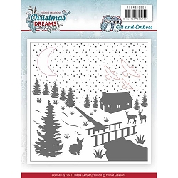 Find It Trading - Yvonne Creations Embossing Folder with die insets - Christmas Dreams
