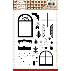 Find It Trading - Precious Marieke Clear Stamps - Warm Christmas Feelings Window