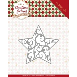 Find It Trading - Precious Marieke Die - Warm Christmas Feelings Swirl Star