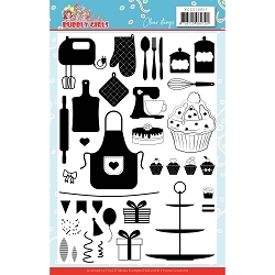 Find It Trading - Yvonne Creations Clear Stamp - Bubbly Girls Party