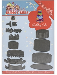 Find It Trading - Yvonne Creations Die - Bubbly Girls Birthday Cake