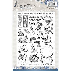 Find It Trading - Amy Design Clear Stamp - Vintage Winter Icons