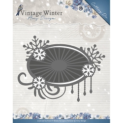 Find It Trading - Amy Design Die - Vintage Winter Snowflake Swirl Label