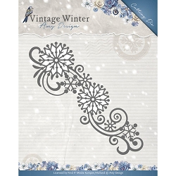 Find It Trading - Amy Design Die - Vintage Winter Snowflake Swirl Border