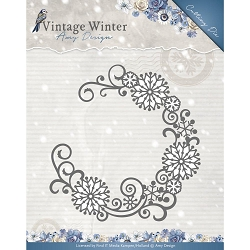 Find It Trading - Amy Design Die - Vintage Winter Snowflake Swirl Round