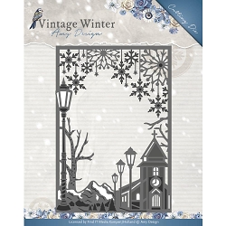 Find It Trading - Amy Design Die - Vintage Winter Village Frame Straight