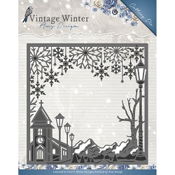 Find It Trading - Amy Design Die - Vintage Winter Village Frame Square