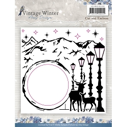 Find It Trading - Amy Design Embossing Folder & Embeded Die - Vintage Winter