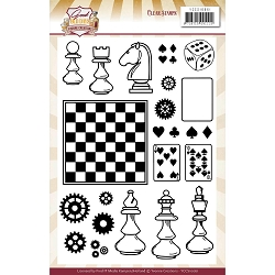 Find It Trading - Yvonne Creations Clear Stamp - Good Old Days Chess