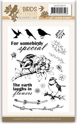 Find It Trading - Jeanine's Art Clear Stamp - Birds & Flowers