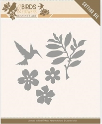 Find It Trading - Jeanine's Art Die - Birds & Flowers Bird Foliage