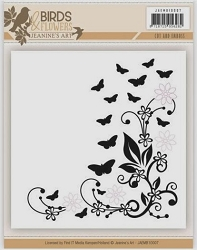 Find It Trading - Jeanine's Art Embossing Folder w/ die - Birds & Flowers