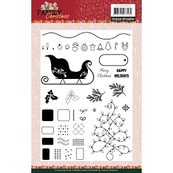 Find It Trading - Yvonne Creations Clear Stamp - Family Christmas
