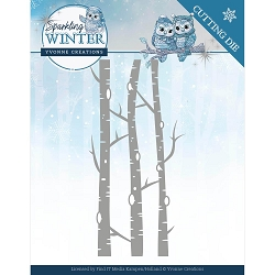 Find It Trading - Yvonne Creations Die - Sparkling Winter Birch Trees