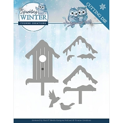 Find It Trading - Yvonne Creations Die - Sparkling Winter Birdhouse