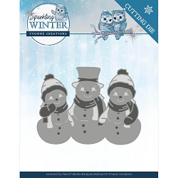 Find It Trading - Yvonne Creations Die - Sparkling Winter Snowmen