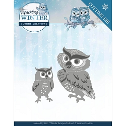 Find It Trading - Yvonne Creations Die - Sparkling Winter Owls