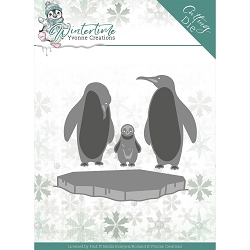 Find It Trading - Yvonne Creations Die - Wintertime Penguins On Ice