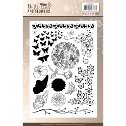 Find It Trading - Jeanine's Art Clear Stamps - Classic Butterflies & Flowers