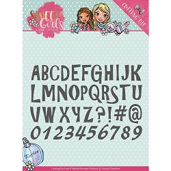 Find It Trading - Yvonne Creations Die - Sweet Girls Lovely Alphabet